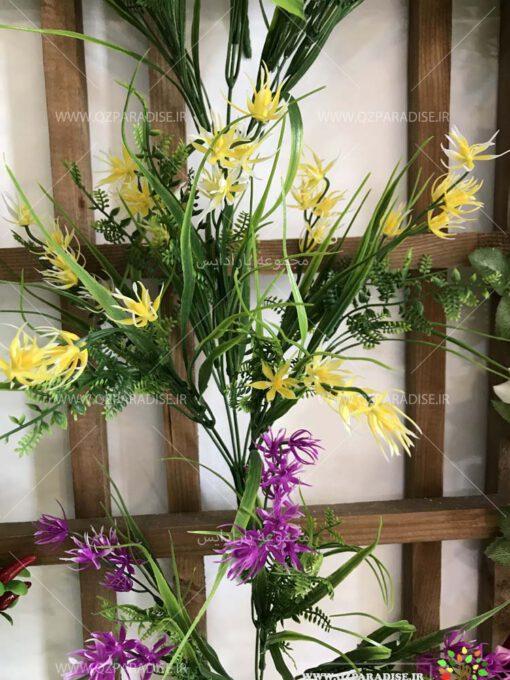 گل-مصنوعی-بوته-گلدار-گیاهان-پخش-مستقیم-مجموعه-پارادایس-کیفت بالا -رنگ زرد