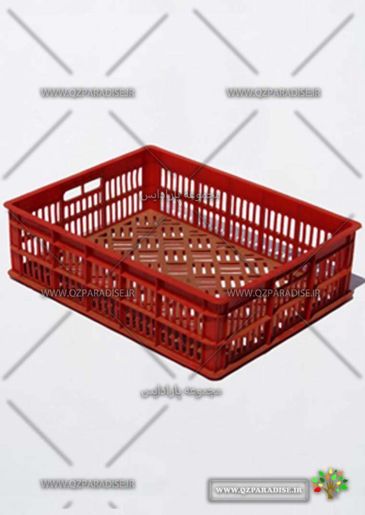 سبد پلاستیکی لبنیات کد 1134 تولید کننده جعبه پلاستیکی شایان اعتماد